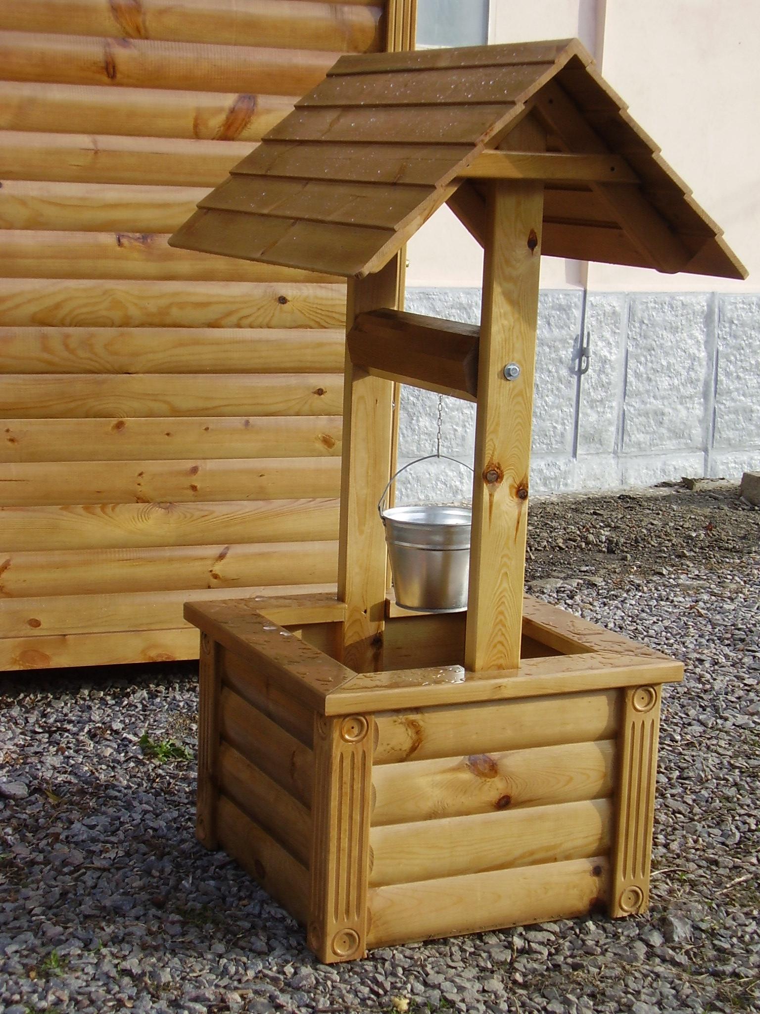 Как сделать деревянный колодец - AtmWood 31
